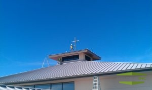 Picture of metal roofing on commercial building