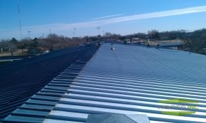 Picture of metal roofing