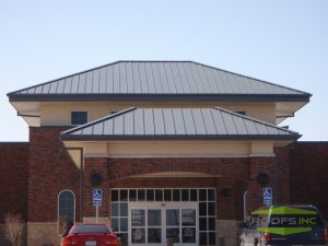 Picture of building with metal roofing