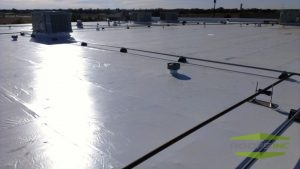 Picture of commercial roofing